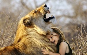 Girl and lion trust