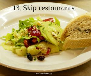 Skip restaurants