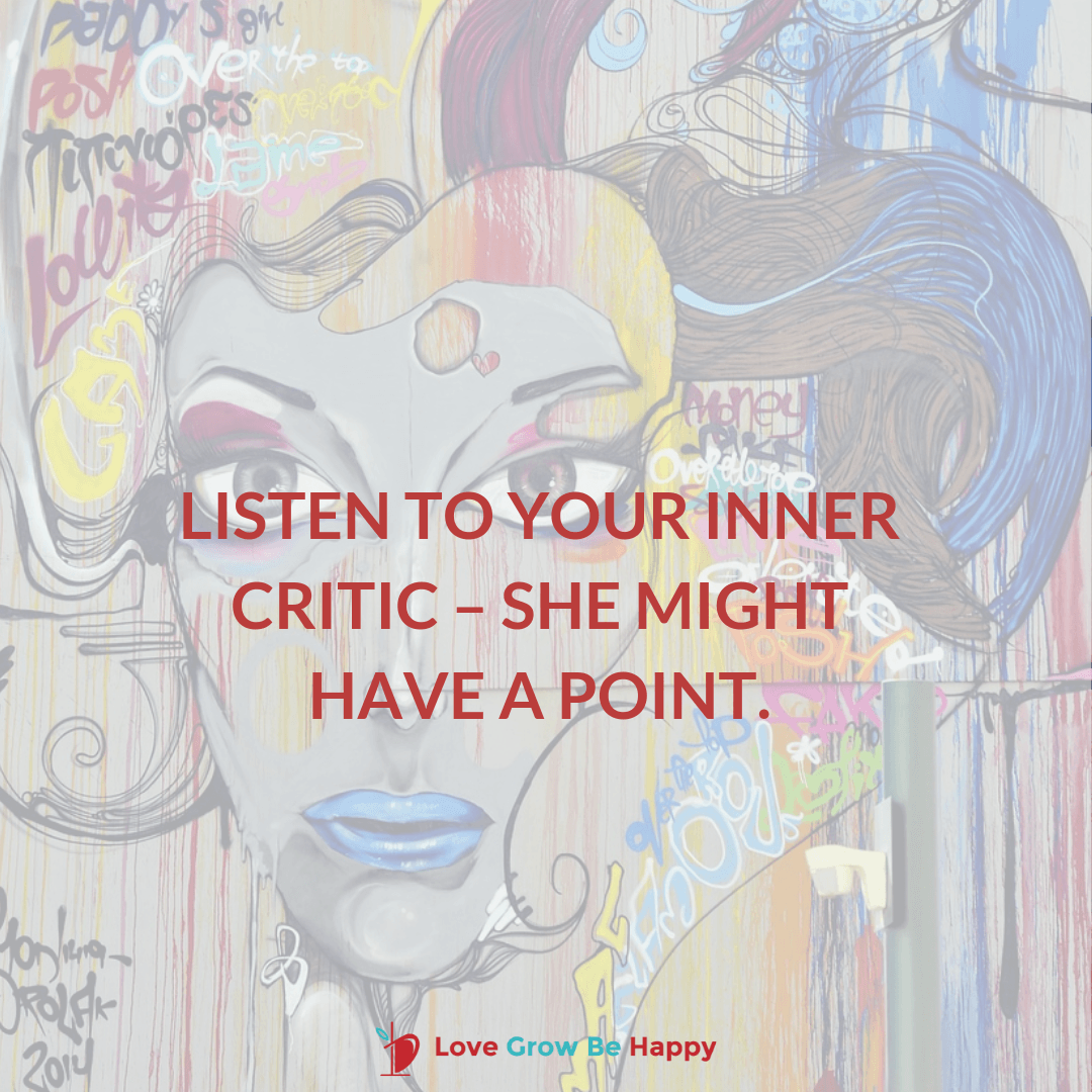 Inner critic might be right