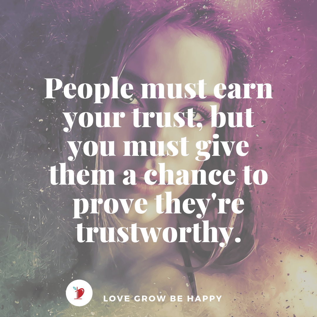 Trust must be earned