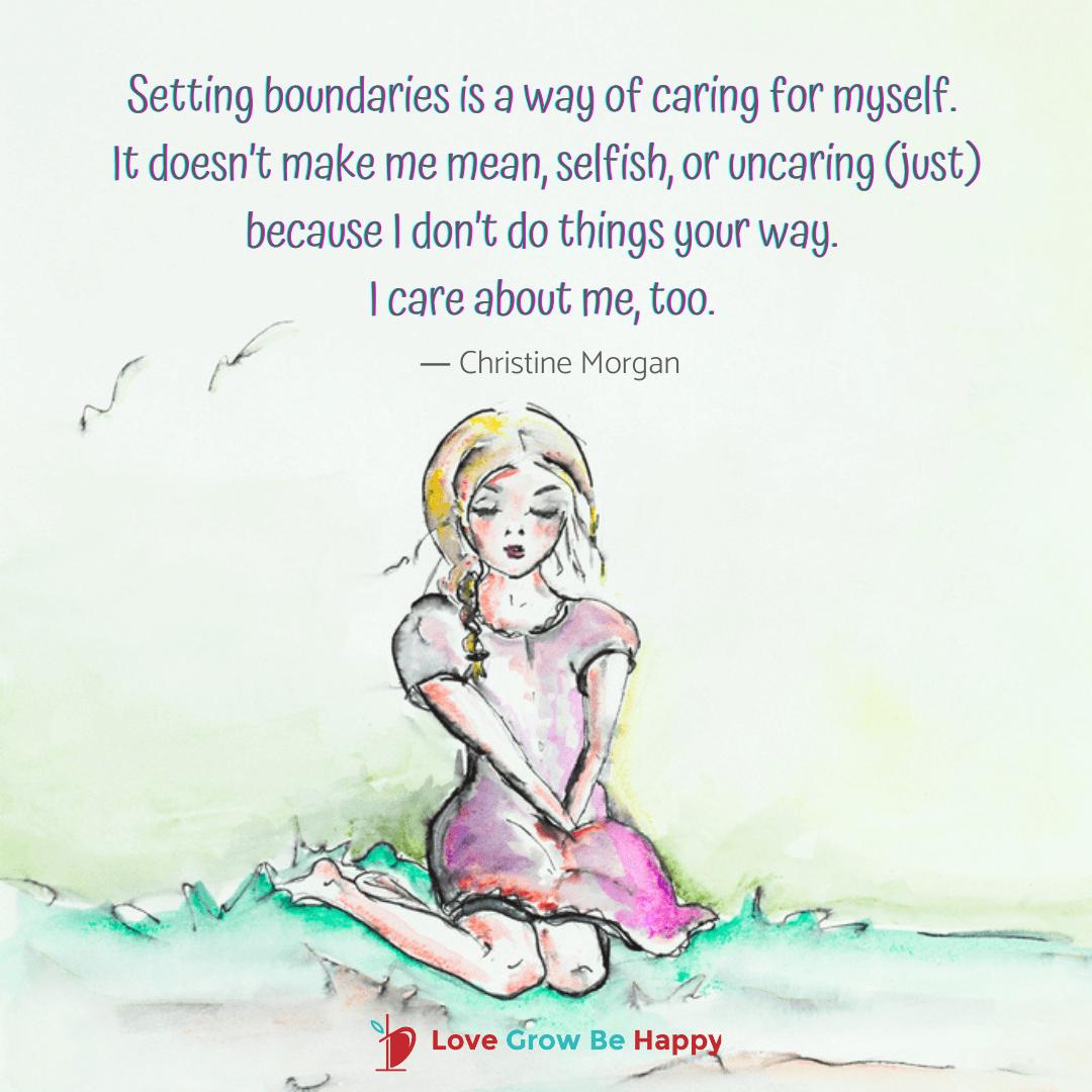 Boundaries are not selfish